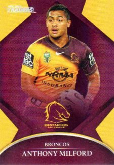 2016 NRL Traders Parallel #P8 Anthony Milford Broncos