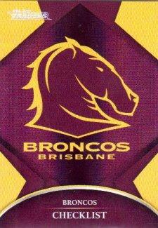 2016 NRL Traders Parallel #P1 Broncos Logo