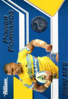 2016 NRL Traders Power Forwards #PF10 Manu Ma'u Eels