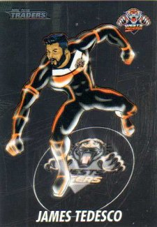 2016 NRL Traders Cyber Heroes #CH18 James Tedesco Tigers
