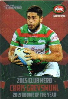 2016 NRL Traders Club Hero #CH24 Chris Grevsmuhl Rabbitohs