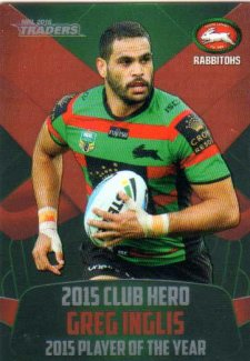 2016 NRL Traders Club Hero #CH23 Greg Inglis Rabbitohs