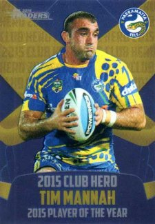 2016 NRL Traders Club Hero #CH19 Tim Mannah Eels