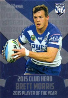 2016 NRL Traders Club Hero #CH5 Brett Morris Bulldogs