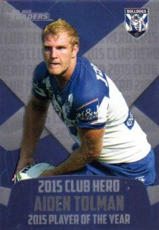 2016 NRL Traders Club Hero #CH6 Aiden Tolman Bulldogs