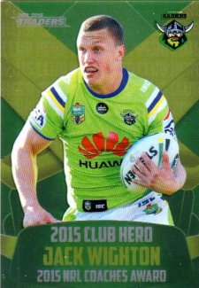 2016 NRL Traders Club Hero #CH4 Jack Wighton Raiders