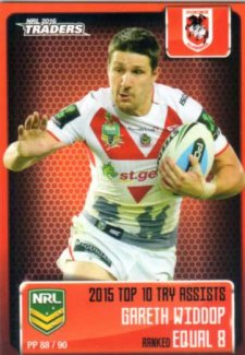 2016 NRL Traders Pieces of the Puzzle #PP88 Gareth Widdop Dragons