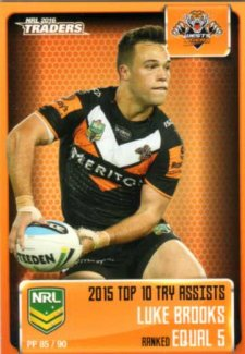 2016 NRL Traders Pieces of the Puzzle #PP85 Luke Brooks Tigers