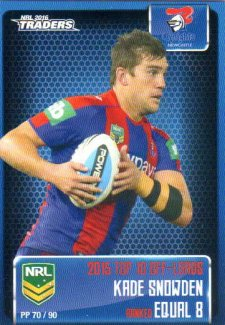 2016 NRL Traders Pieces of the Puzzle #PP70 Kade Snowden Knights