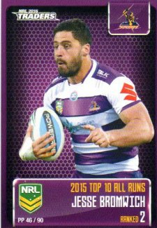 2016 NRL Traders Pieces of the Puzzle #PP46 Jesse Bromwich Storm