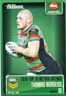 2016 NRL Traders Pieces of the Puzzle #PP45 Thomas Burgess Rabbitohs