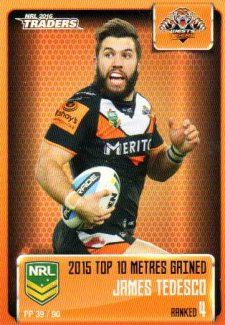 2016 NRL Traders Pieces of the Puzzle #PP39 James Tedesco Tigers