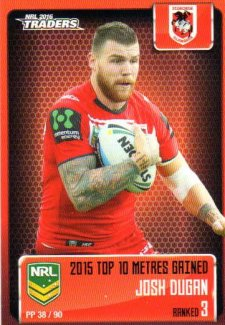 2016 NRL Traders Pieces of the Puzzle #PP38 Josh Dugan Dragons
