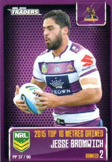 2016 NRL Traders Pieces of the Puzzle #PP37 Jesse Bromwich Storm