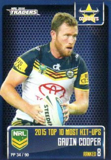 2016 NRL Traders Pieces of the Puzzle #PP34 Gavin Cooper Cowboys