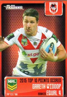 2016 NRL Traders Pieces of the Puzzle #PP13 Gareth Widdop Dragons