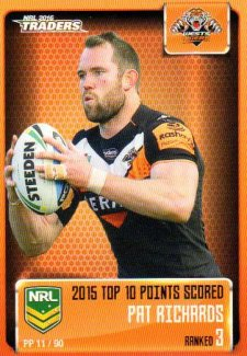 2016 NRL Traders Pieces of the Puzzle #PP11 Pat Richards Tigers
