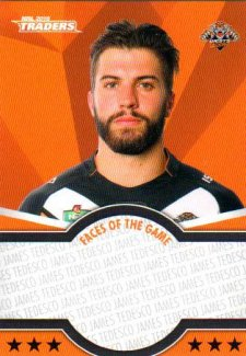 2016 NRL Traders Faces of the Game #FOTG47 James Tedesco Tigers
