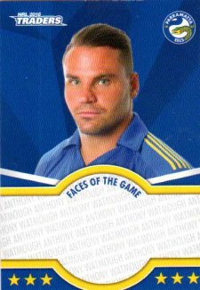 2016 NRL Traders Faces of the Game #FOTG30 Anthony Watmough Eels