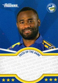2016 NRL Traders Faces of the Game #FOTG29 Semi Radradra Eels