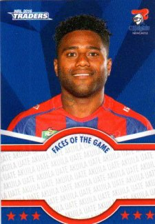 2016 NRL Traders Faces of the Game #FOTG24 Akuila Uate Knights