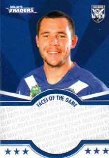 2016 NRL Traders Faces of the Game #FOTG8 David Klemmer Bulldogs