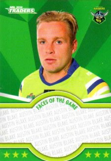 2016 NRL Traders Faces of the Game #FOTG4 Blake Austin Raiders