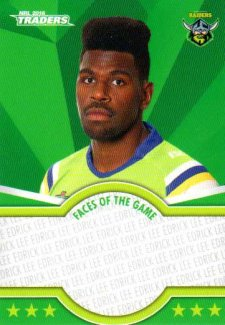 2016 NRL Traders Faces of the Game #FOTG5 Edrick Lee Raiders