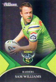 2016 NRL Traders Black Special Parallel #PS10 Sam Williams Raiders