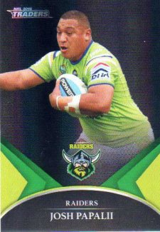 2016 NRL Traders Black Special Parallel #PS8 Josh Papalii Raiders