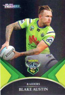 2016 NRL Traders Black Special Parallel #PS6 Blake Austin Raiders