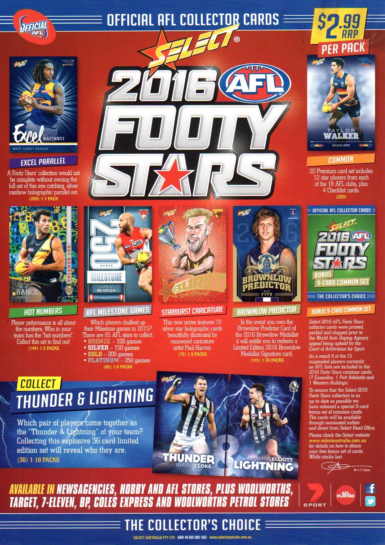 2016 AFL Footy Stars