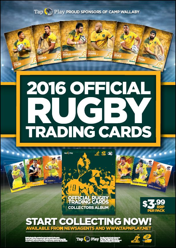 2016 Rugby Union Trading Cards Flyer