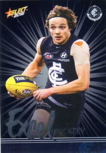 2016 AFL Footy Stars Excel Parallel #EP29 Dylan Buckley Blues