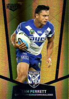 2015 NRL Elite Gold Parallel #PS26 Sam Perrett Bulldogs