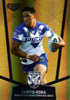 2015 NRL Elite Gold Parallel #PS27 Curtis Rona Bulldogs