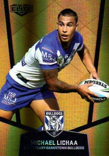 2015 NRL Elite Gold Parallel #PS23 Michael Lichaa Bulldogs