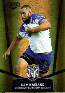 2015 NRL Elite Gold Parallel #PS21 Sam Kasiano Bulldogs