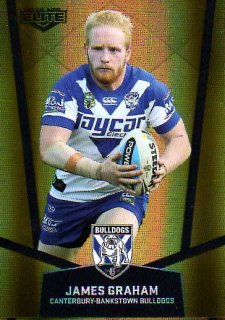 2015 NRL Elite Gold Parallel #PS19 James Graham Bulldogs