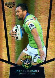 2015 NRL Elite Gold Parallel #PS16 Jordan Rapana Raiders