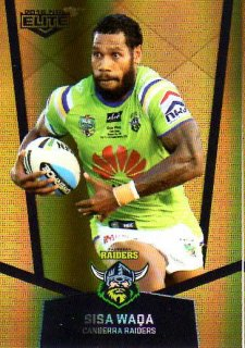 2015 NRL Elite Gold Parallel #PS17 Sisa Waqa Raiders