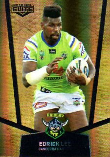 2015 NRL Elite Gold Parallel #PS14 Edrick Lee Raiders