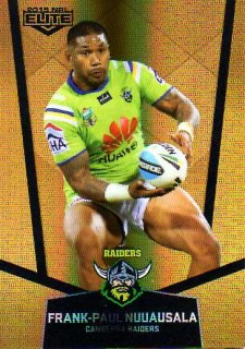 2015 NRL Elite Gold Parallel #PS15 Frank-Paul Nuuausala Raiders