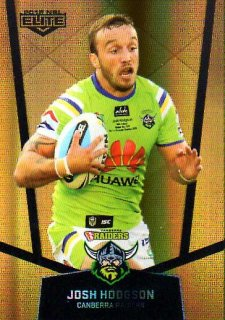 2015 NRL Elite Gold Parallel #PS13 Josh Hodgson Raiders