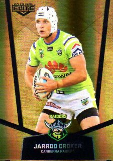 2015 NRL Elite Gold Parallel #PS11 Jarrod Croker Raiders
