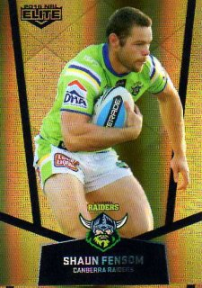 2015 NRL Elite Gold Parallel #PS12 Shaun Fensom Raiders