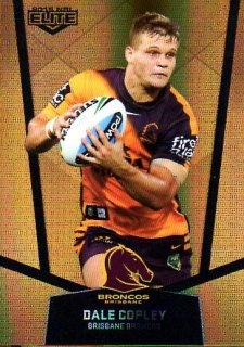 2015 NRL Elite Gold Parallel #PS2 Dale Copley Broncos