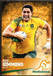 2016 Rugby Gold Parallel #32 Rob Simmons Wallabies