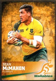 2016 Rugby Gold Parallel #24 Sean McMahon Wallabies