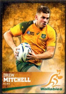 2016 Rugby Gold Parallel #25 Drew Mitchell Wallabies